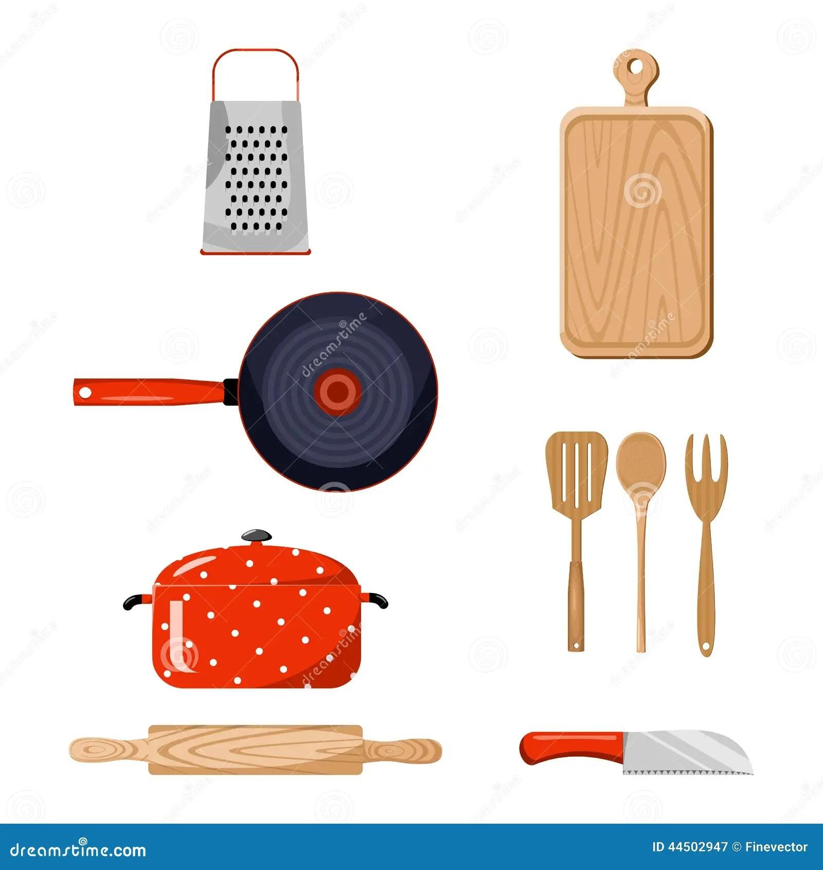 Kitchen Stuff Color Vector Illustration Stock Vector  Image 44502947