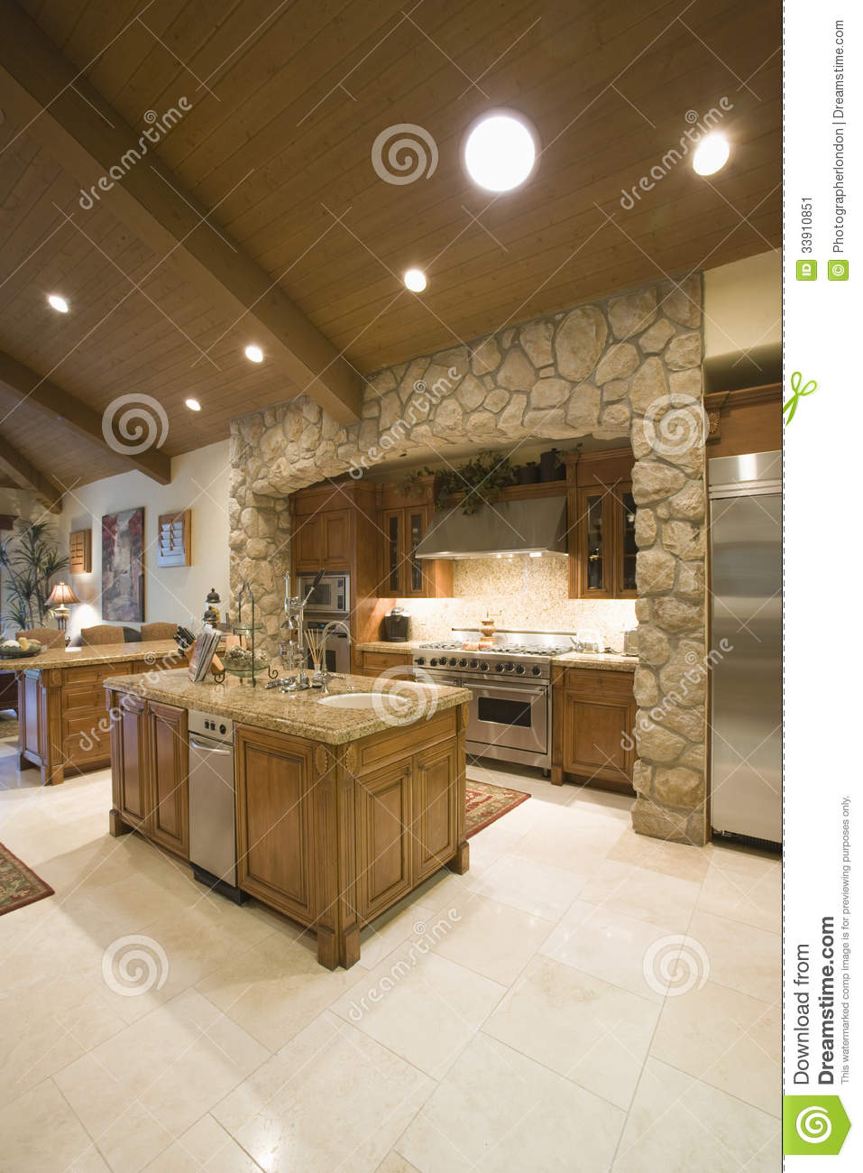 kitchen spotlights retro set surrounded with on ceiling stock image of
