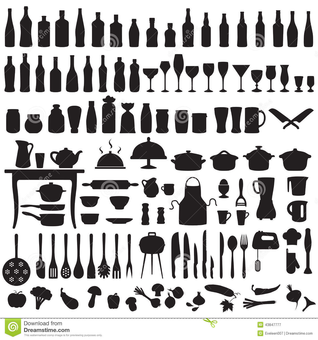 Cooking Icons And Labels. Icons For Recipe Books Include
