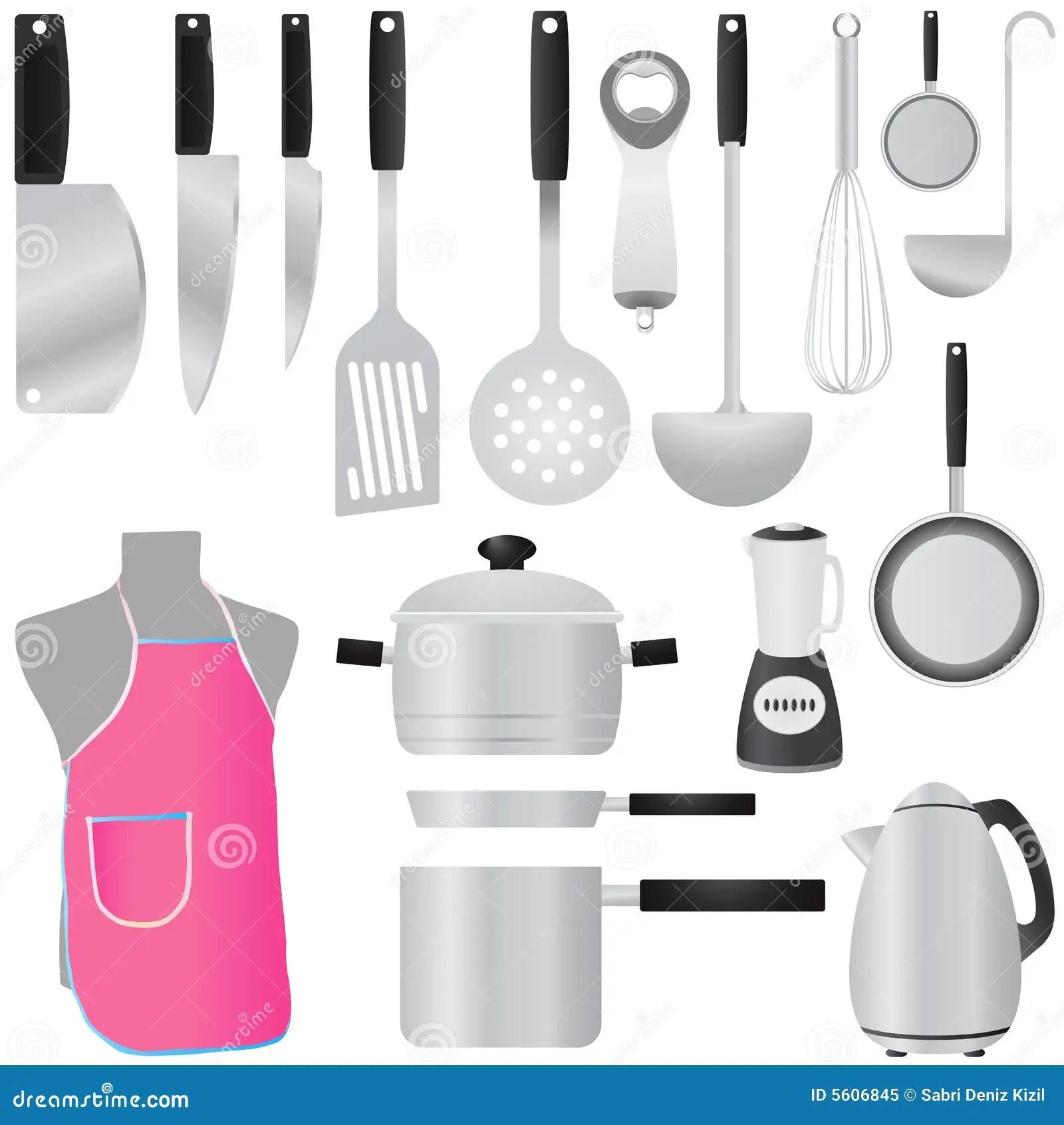 kitchen spatula pot hanger tools vector royalty free stock photo - image: 5606845