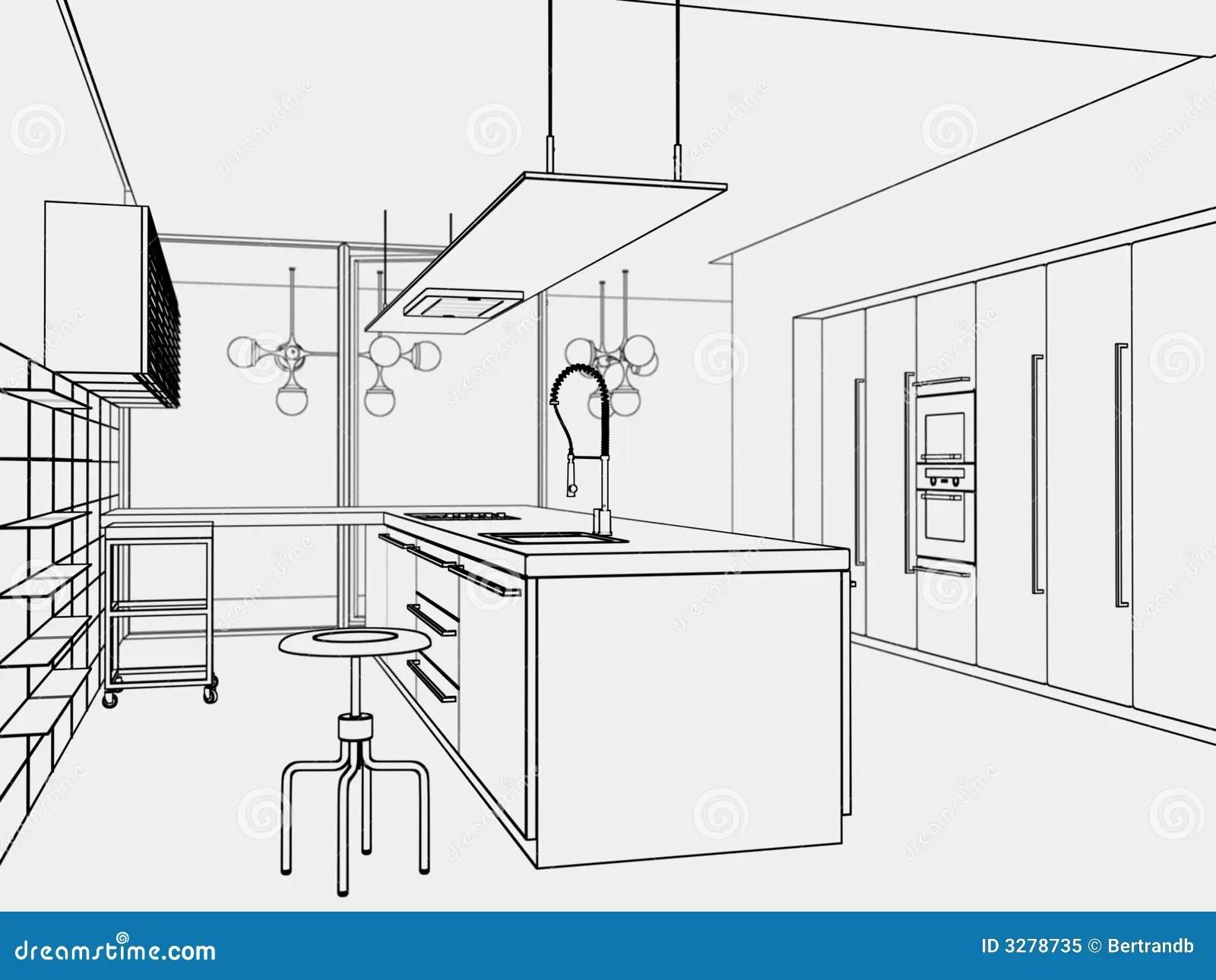 Kitchen Toon Style Stock Illustration Illustration Of