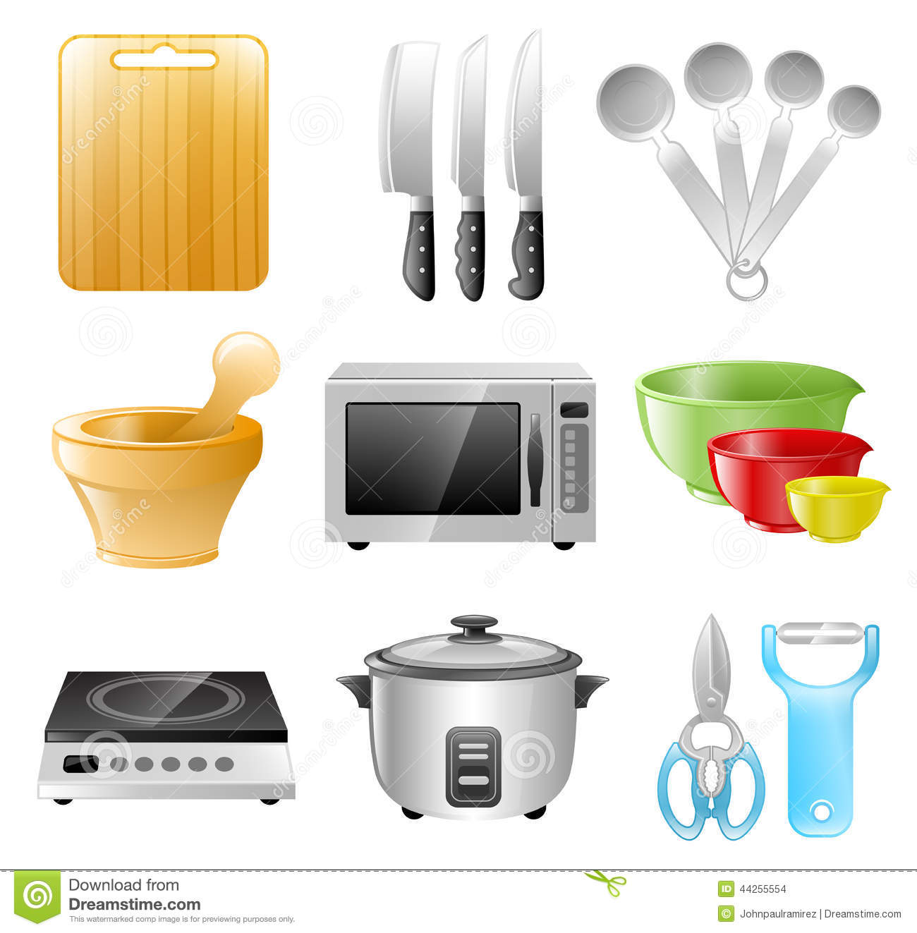 Kitchen Utensils Cooking Restaurant Stock Vector Image