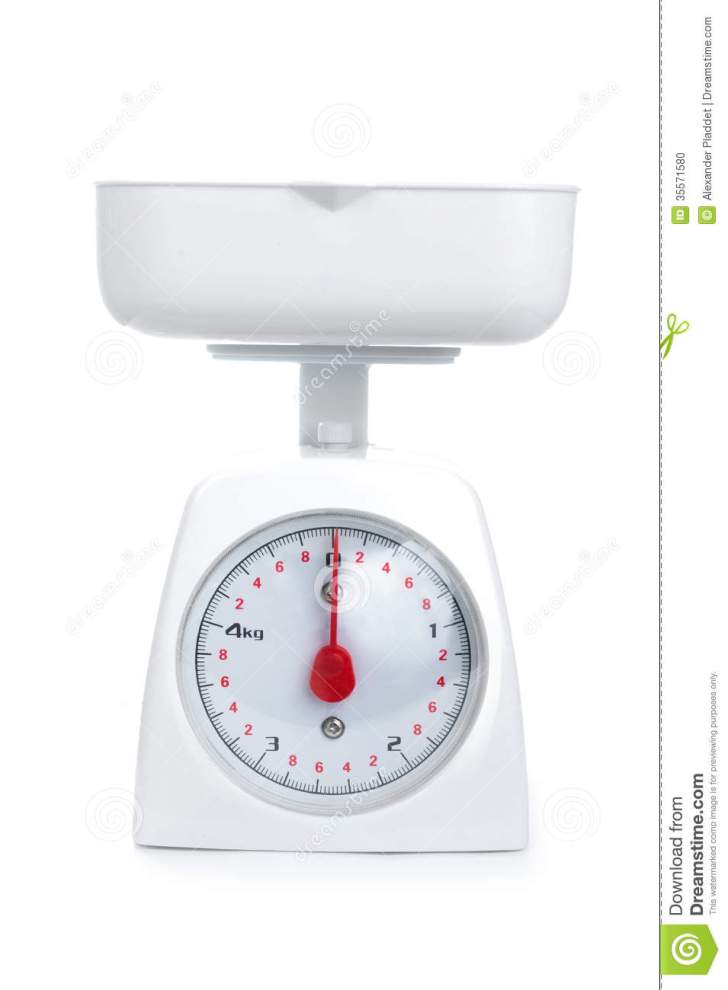 Kitchen Weighing Scale Isolated White
