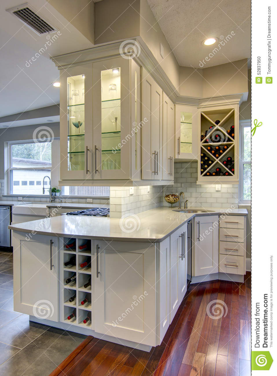 kitchen wine rack delta touchless faucet stock photo image of chairs granite 52837950 built in storage