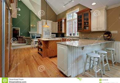 Kitchen Island With Granite And Wood