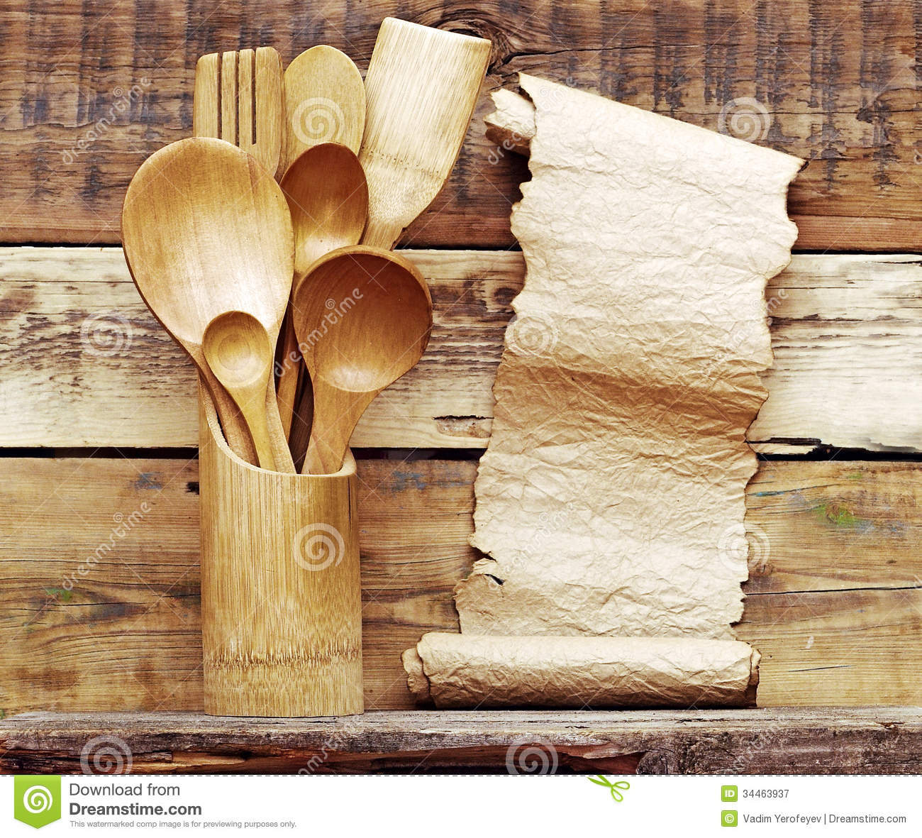 Kitchen Wooden Utensils Royalty Free Stock Photography Image 34463937
