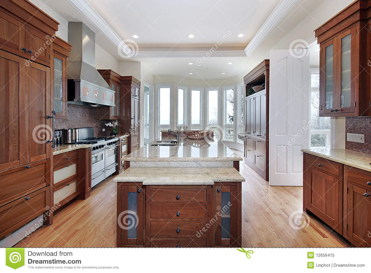 kitchen sink styles cabinet pantry kitchenn with recessed ceiling royalty free stock photo ...