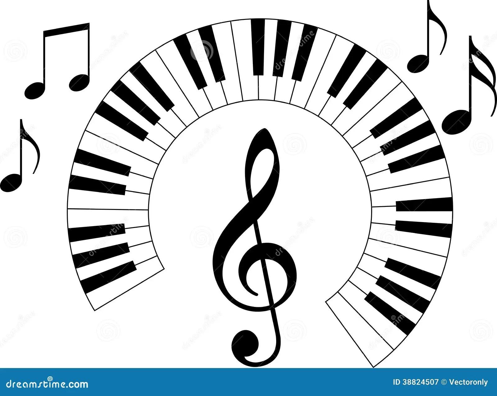 Klaviertastatur Vektor Abbildung Illustration Von Melo