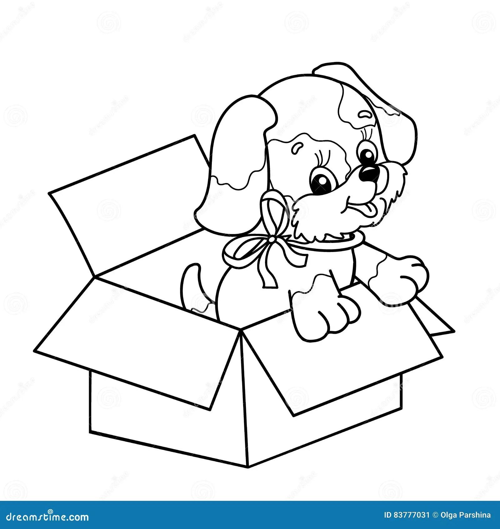 Kleurend Paginaoverzicht Van Leuk Puppy In Vakje De Hond
