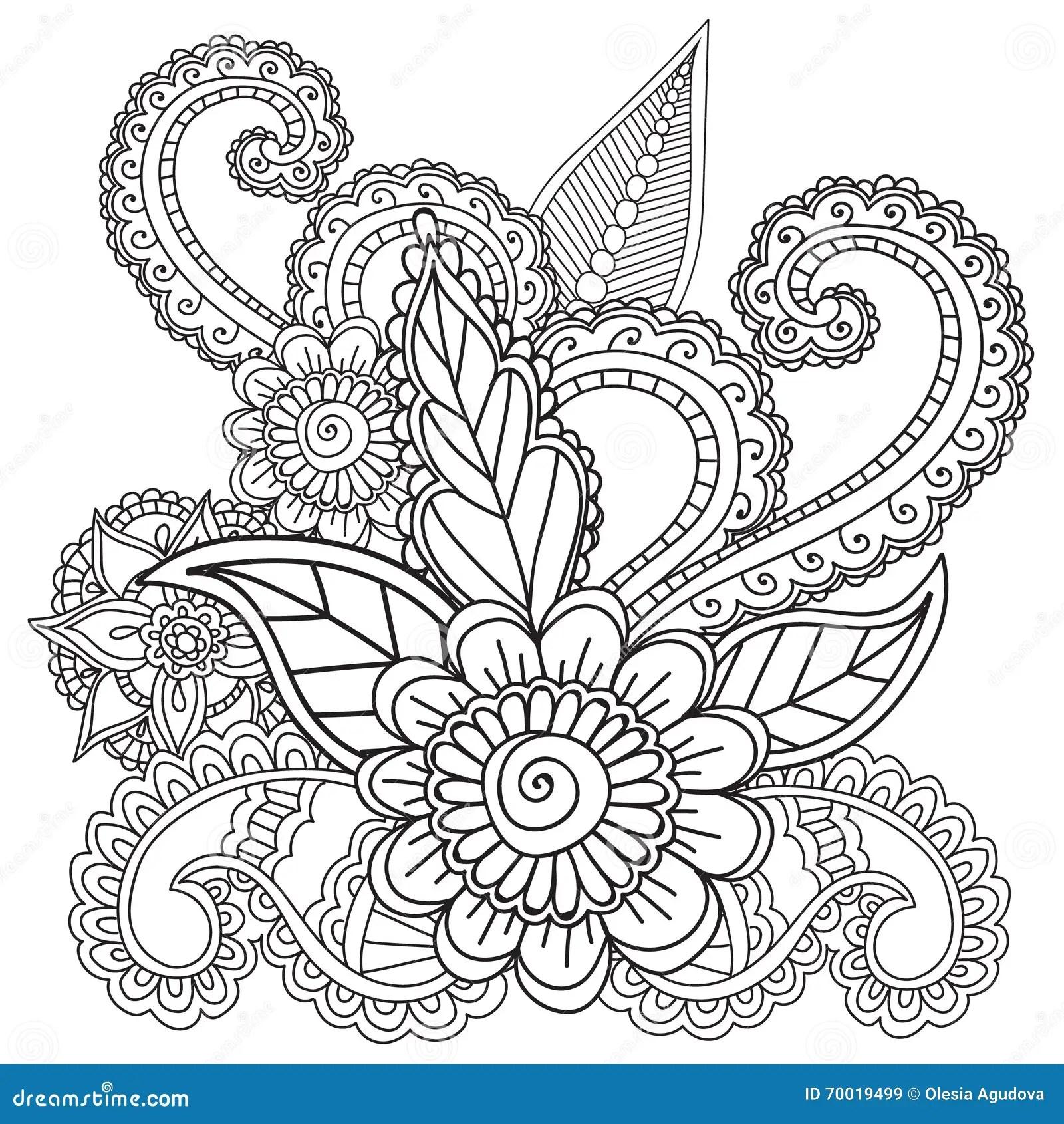 Kleurende Pagina S Voor Volwassenen Henna Mehndi Doodles