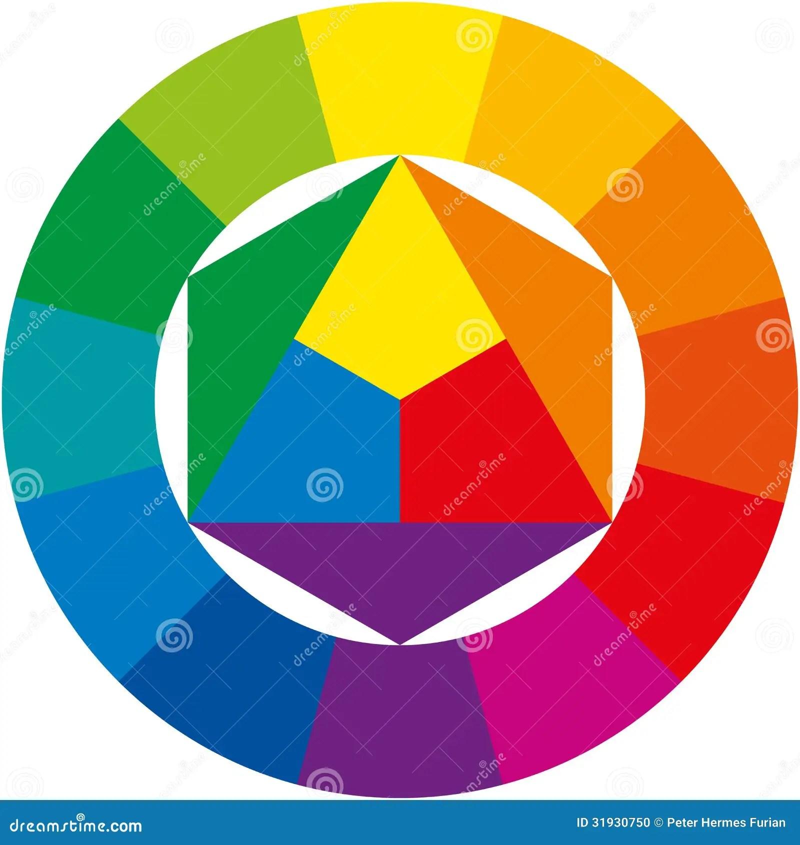 Kleurenwiel Vector Illustratie Illustratie Bestaande Uit