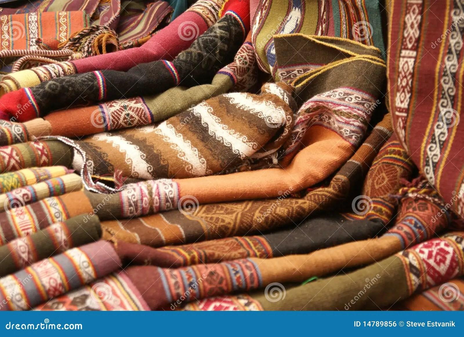 Kleurrijke Met De Hand Gemaakte Dekens  Tafelkleden