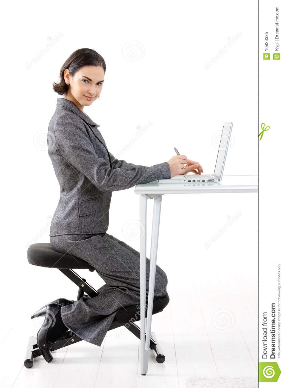 office max chair wheelchair clearance kneeling stock image. image of beautiful, expression - 10826385