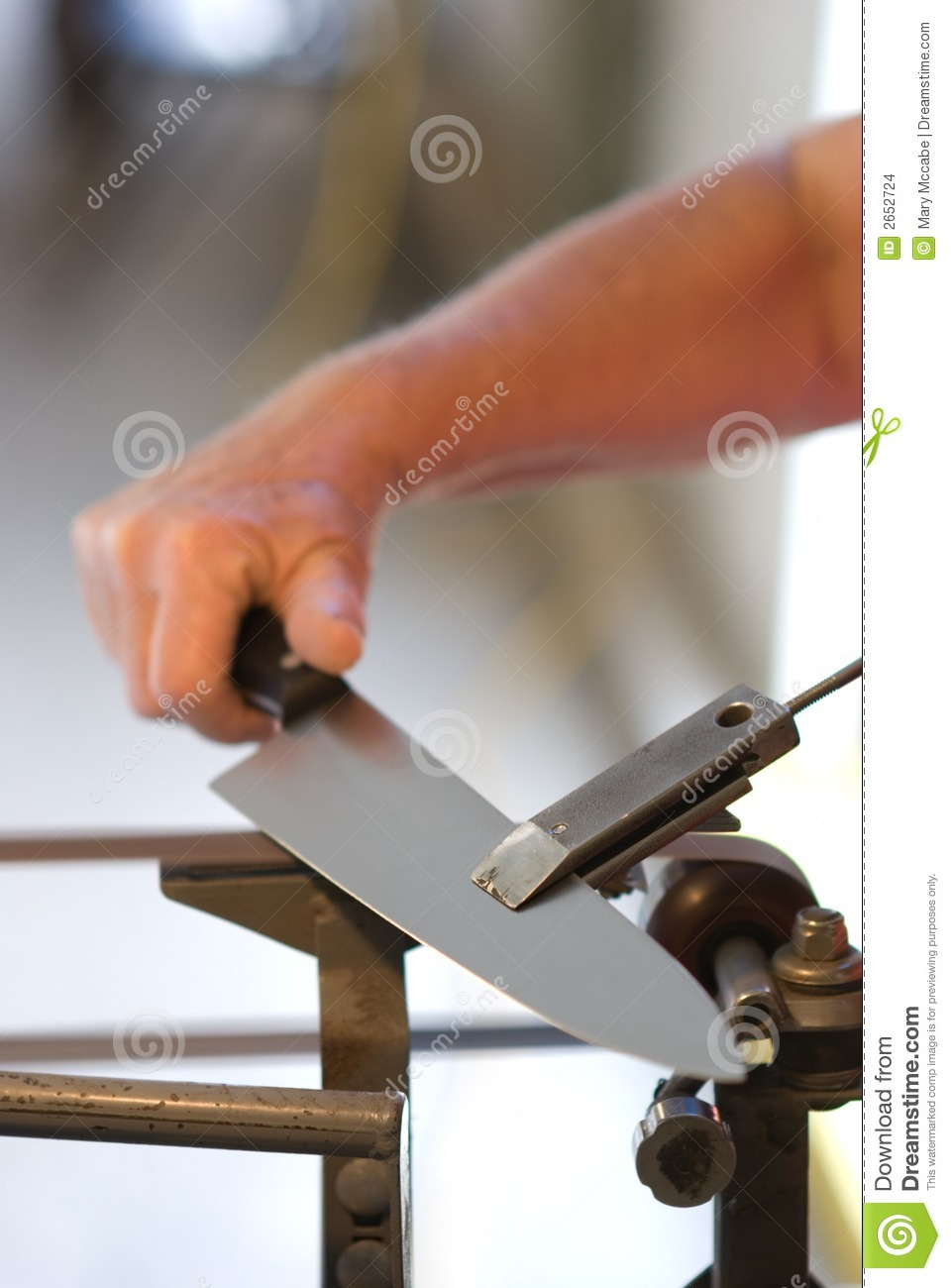 kitchen knife sharpening roll away island stock images - image: 2652724