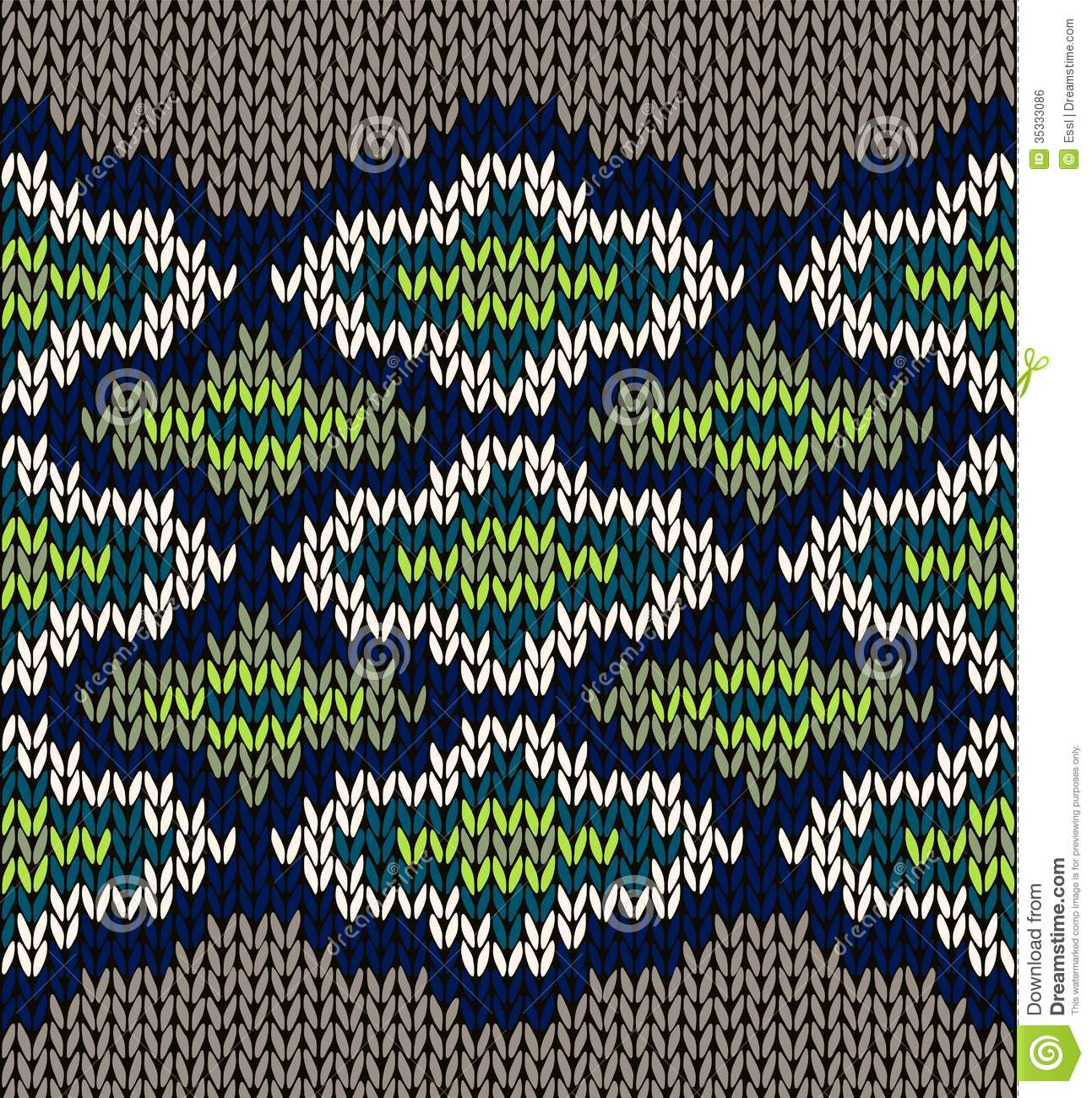Knit Seamless Jacquard Ornament Texture Royalty Free Stock