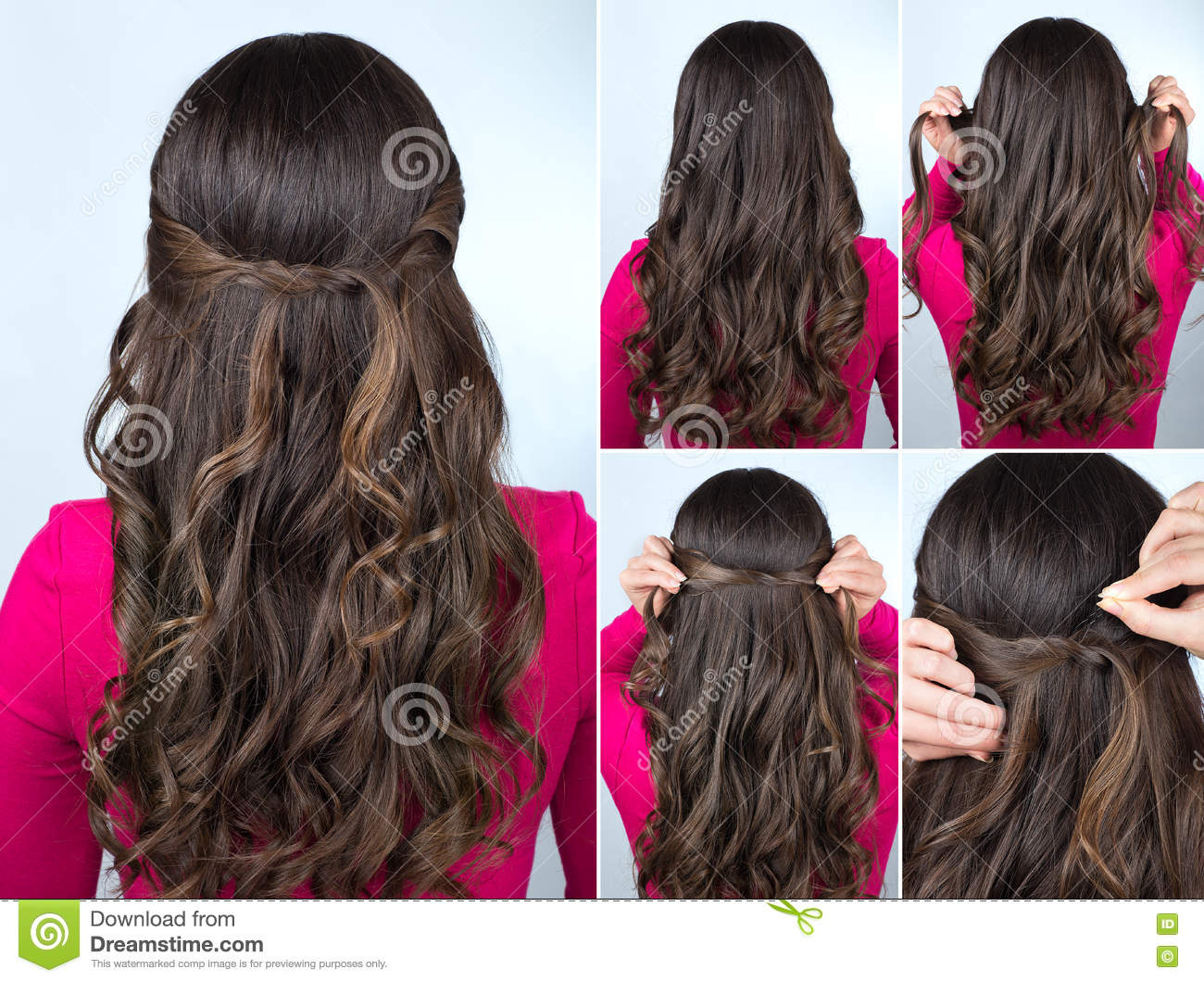knotted hairstyle on curly