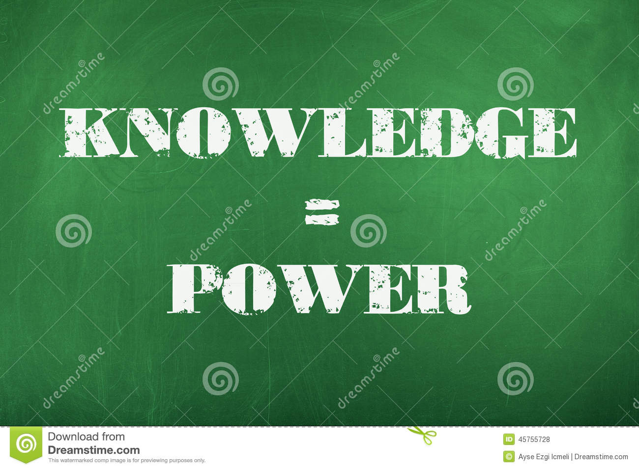 Knowledge is Power stock photo Image of data advice