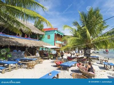 Koh Rong Island Beach Bars In Cambodia Editorial Stock ...