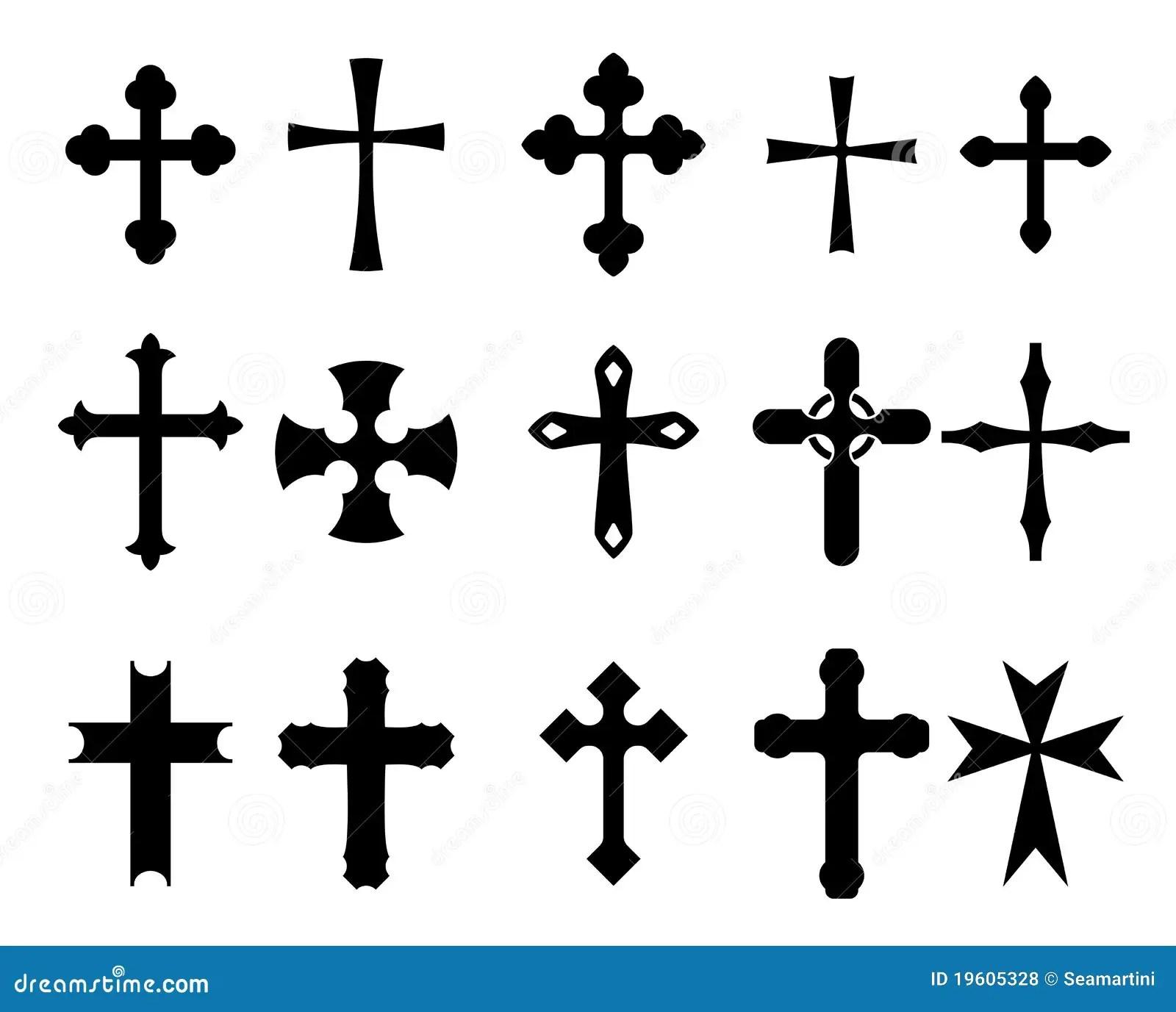 Korssymboler Vektor Illustrationer Illustration Av Jesus