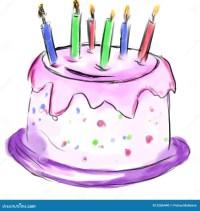 Kuchen Fr Geburtstag Stockfoto - Bild: 2286440