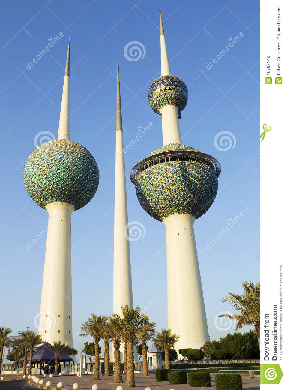 Scientific Wallpaper 3d Kuwait Towers Royalty Free Stock Image Image 16762146