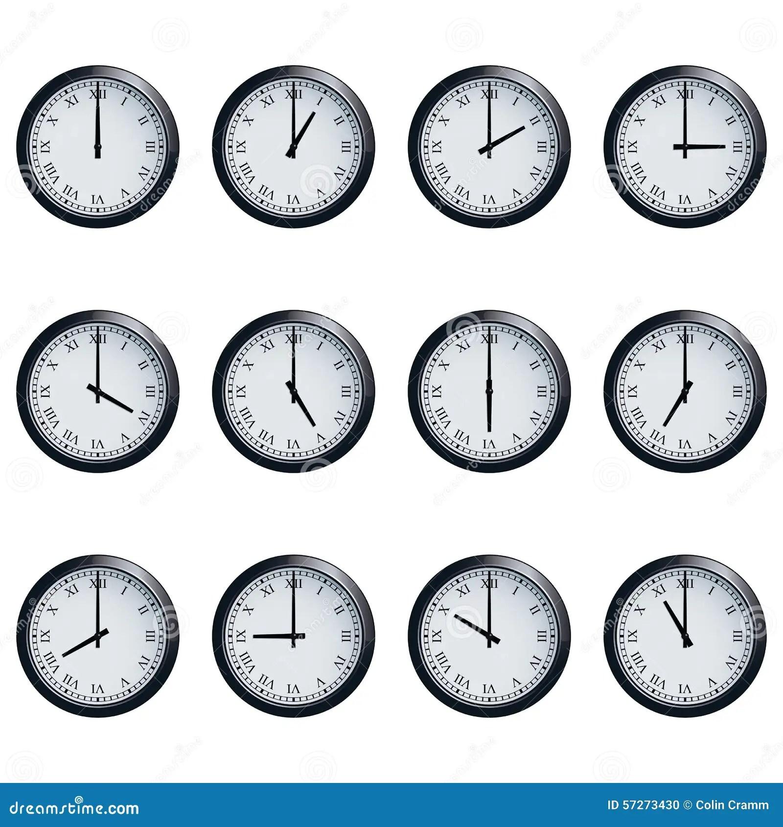 L Horloge A Place Avec Les Chiffres Romains Chronometres