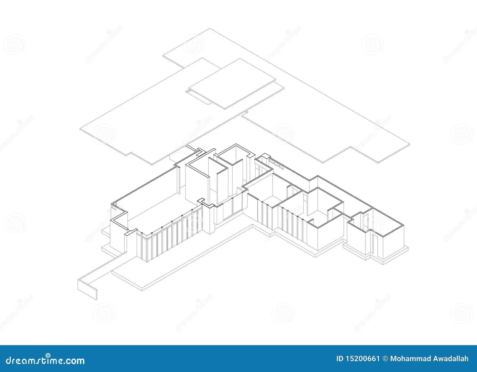 La Camera Del Jacobs Ha Esploso L Illustrazione Isometrica