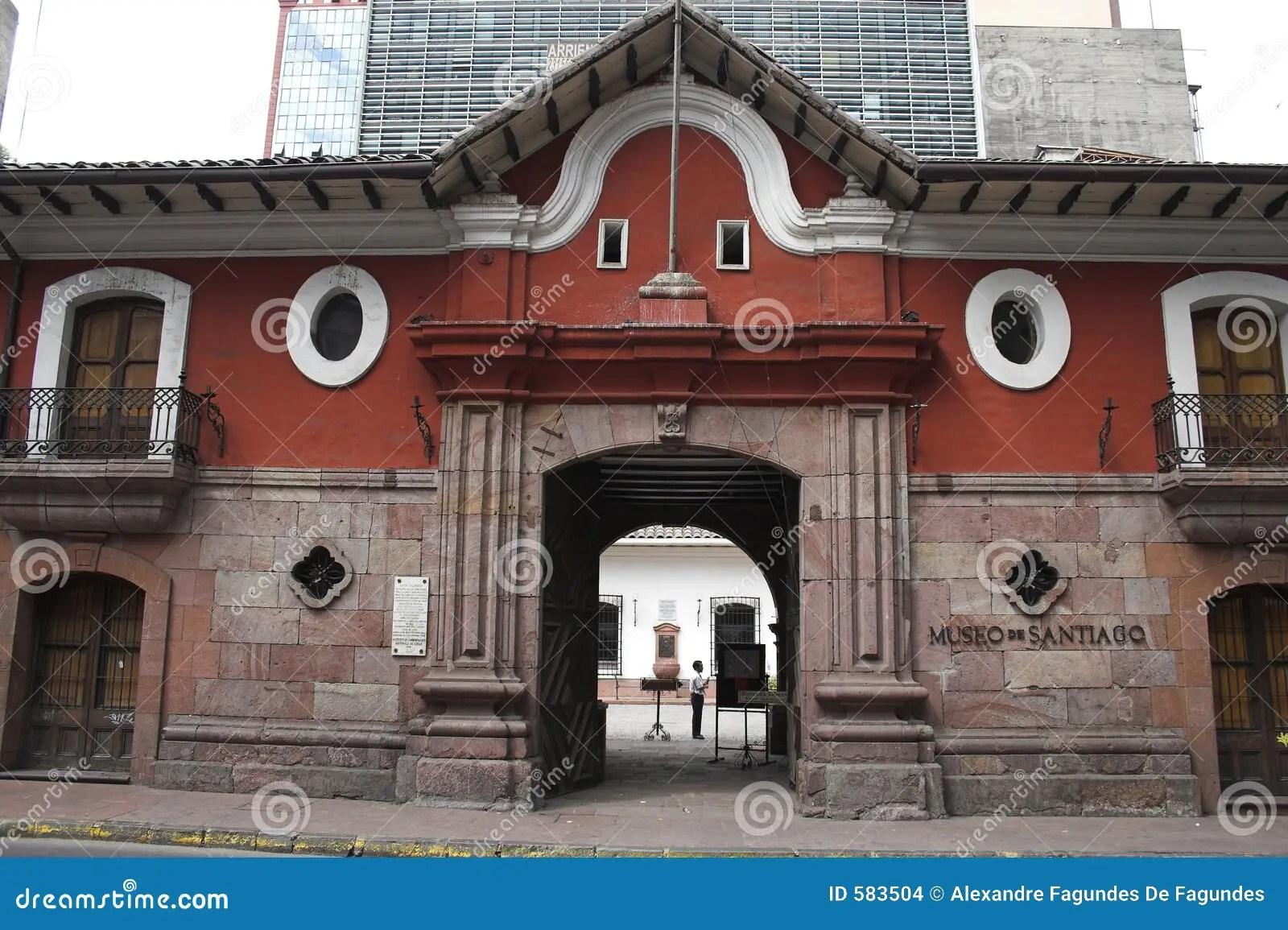 La Casa Colorada Santiago De Chile Stock Photo  Image of