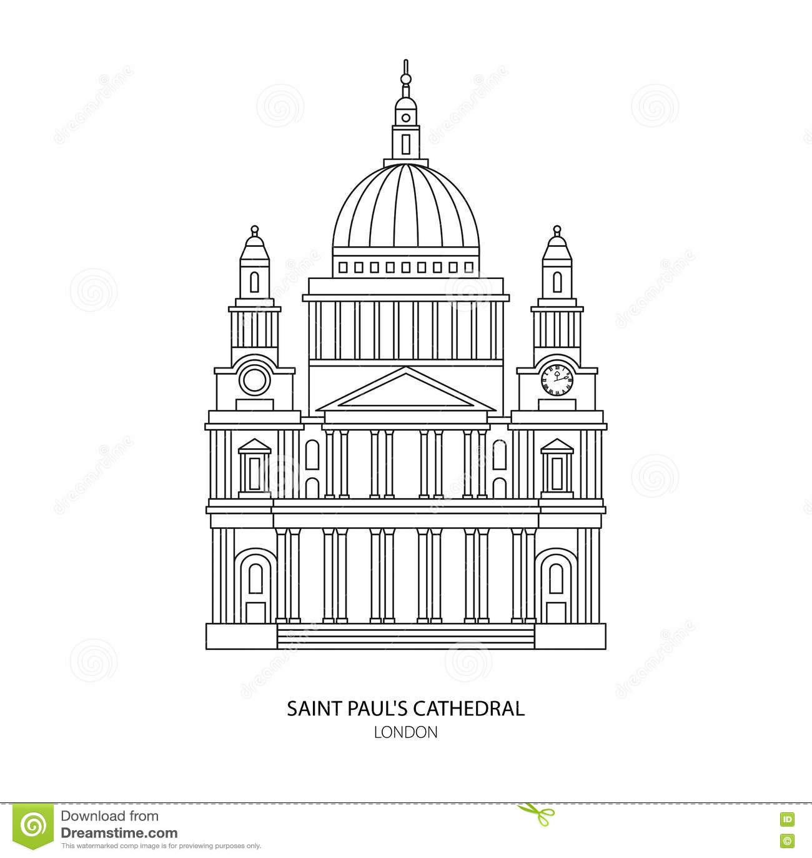 La Cathédrale De St Paul, Illustration De Vecteur De Point