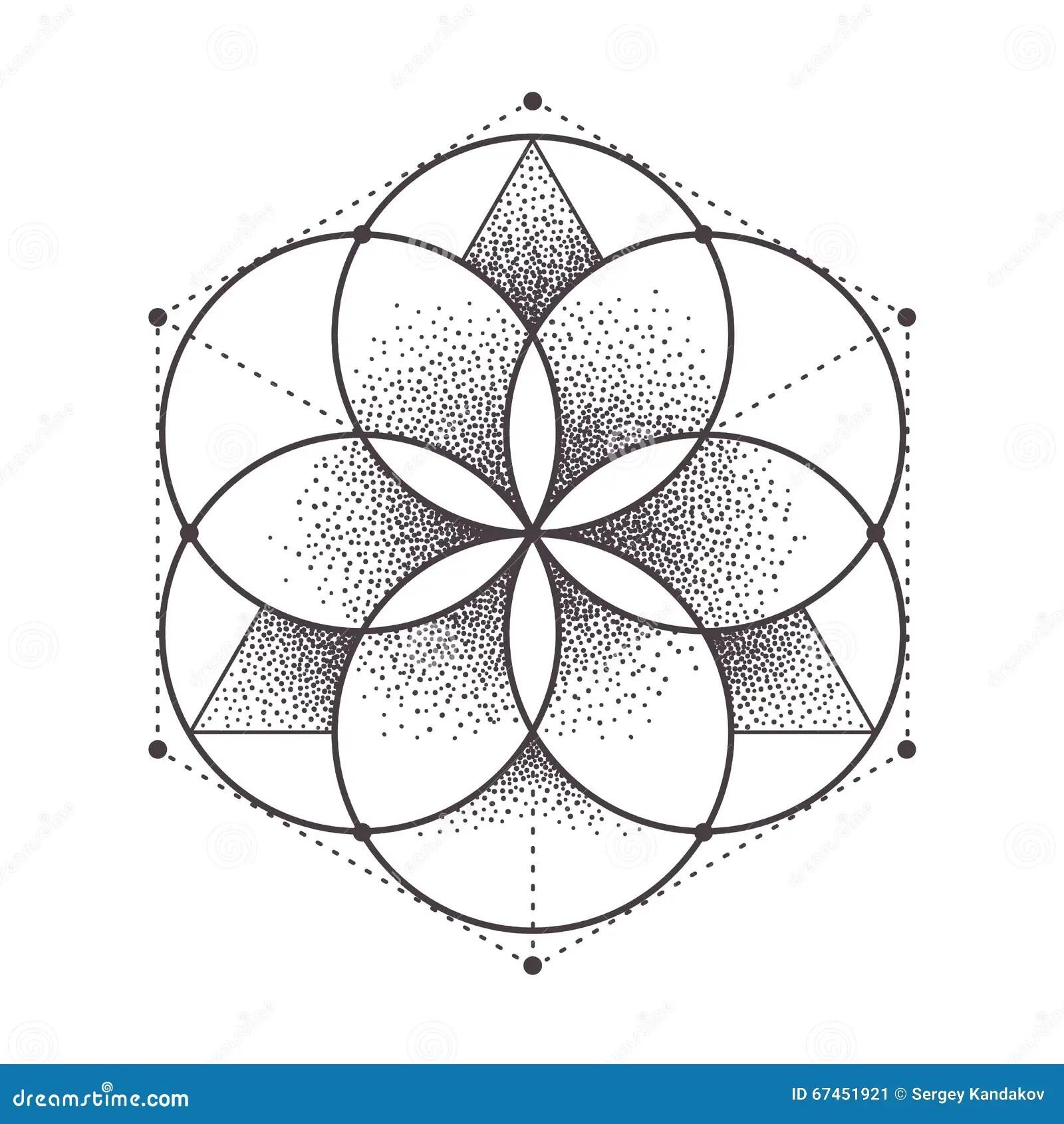 La Geometrie Sacree Illustration De Vecteur Illustration