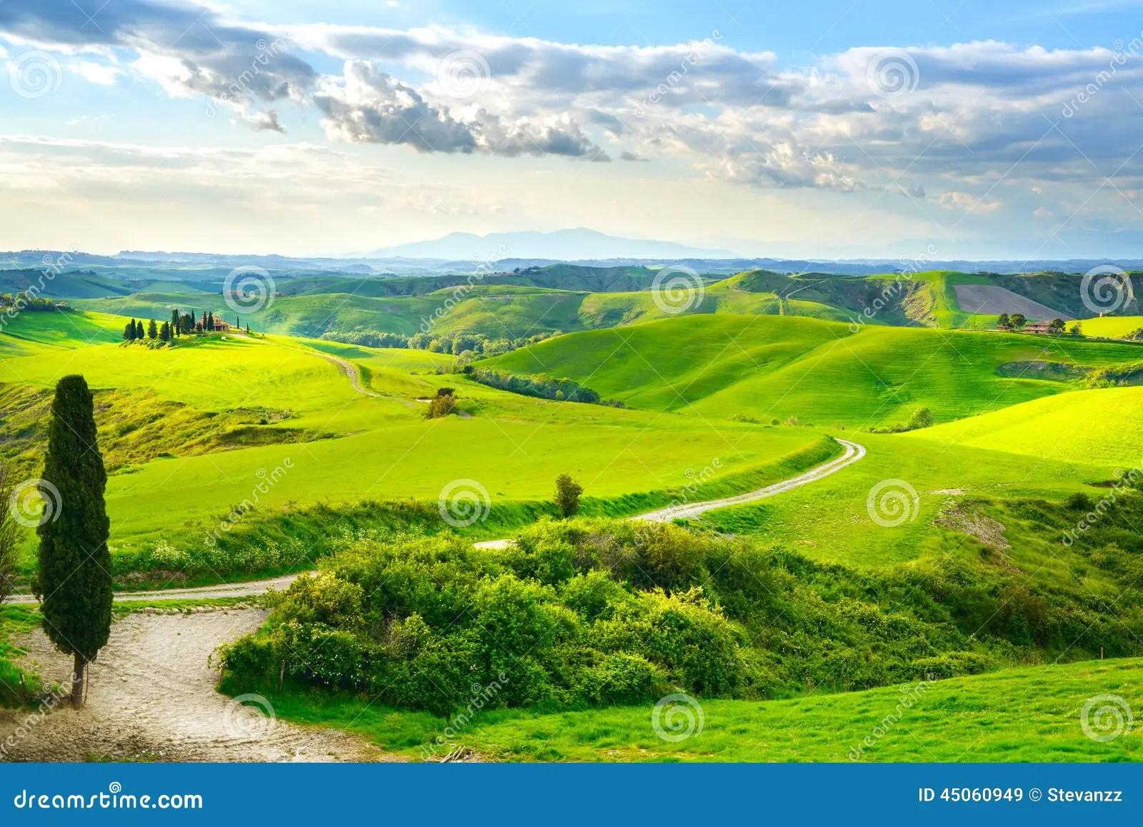 La Toscana Paesaggio Rurale Di Tramonto Immagine Stock  Immagine di paesaggio nube 45060949