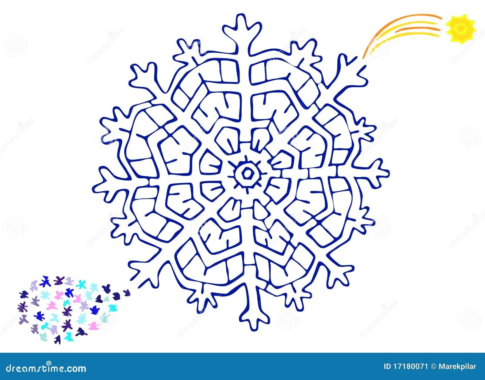 Laberinto De La Navidad Stock De Ilustracion Ilustracion