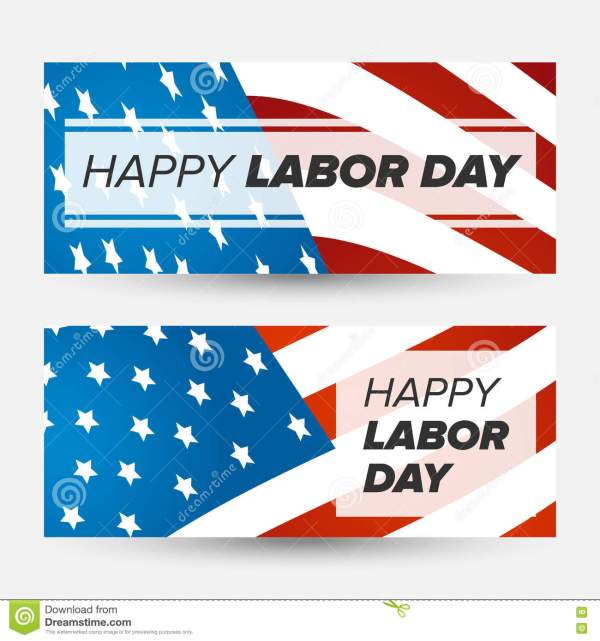 Labor Day Flag Sign Banner Stock Image CartoonDealercom
