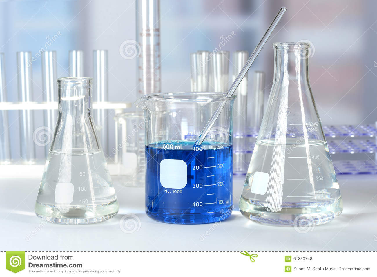 Laboratory Glass On Table Stock Photo Image Of Flask