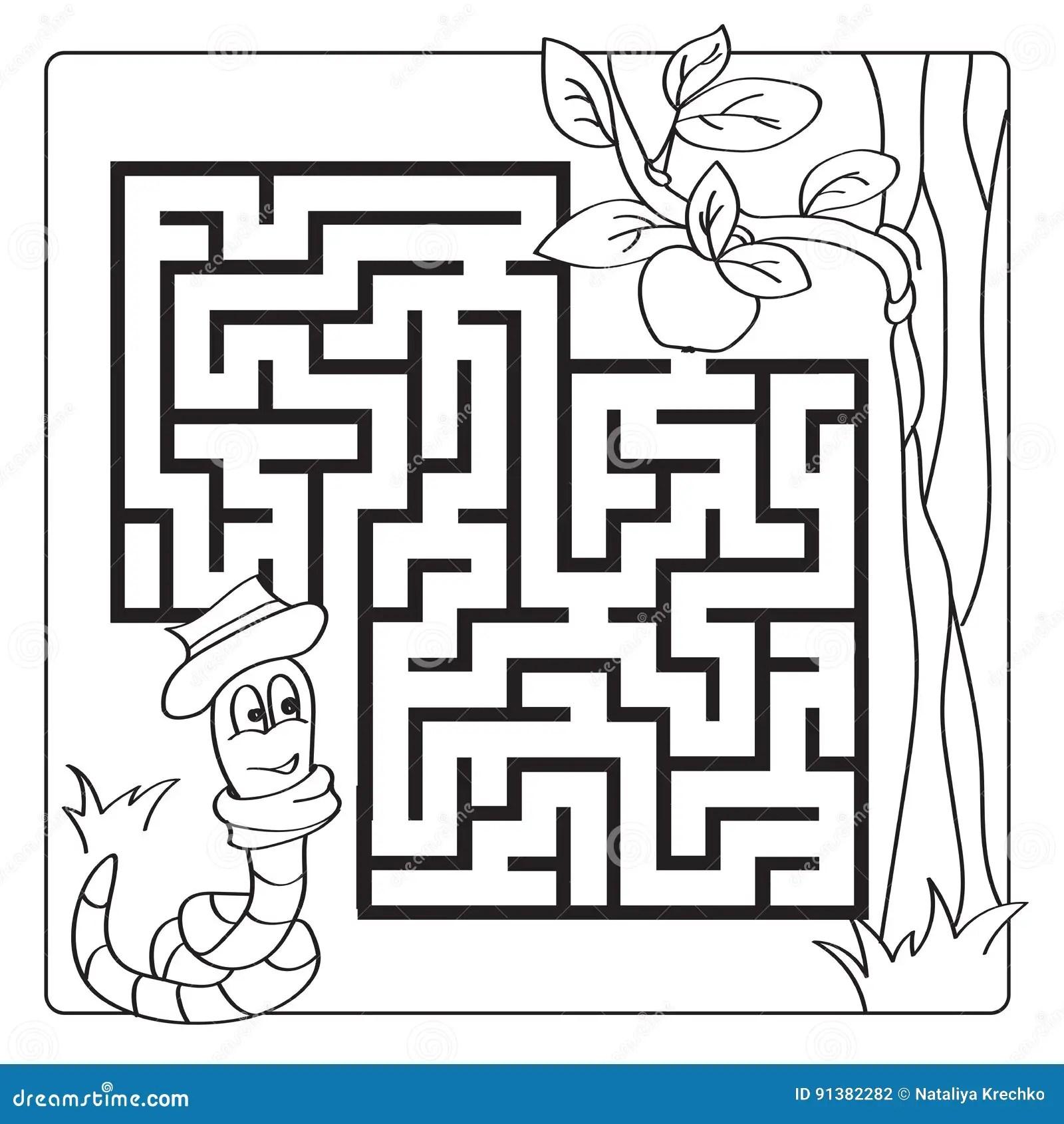 Labyrint Labyrint Voor Jonge Geitjes Ingang En Uitgang De