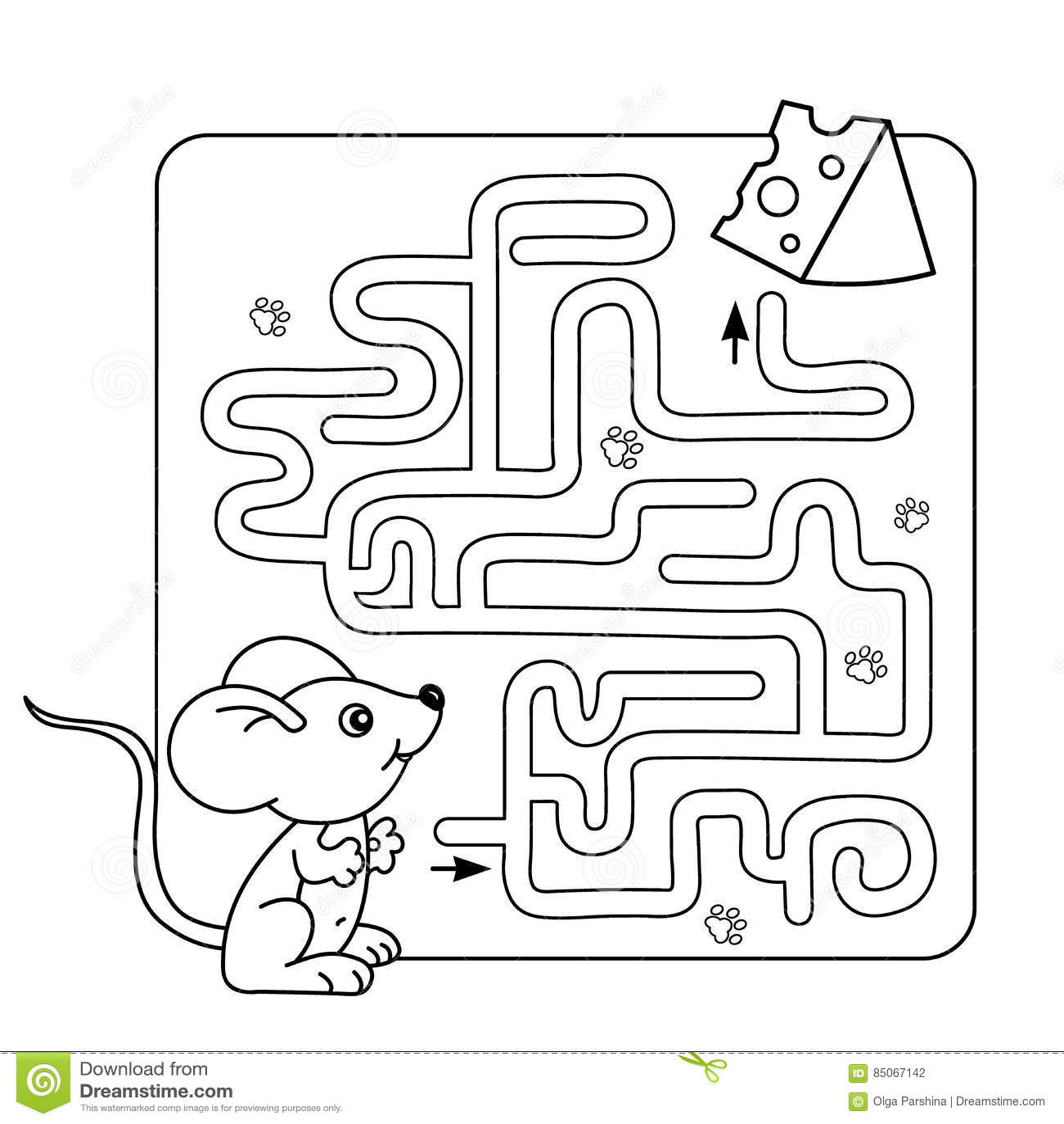 Labyrinth Oder Labyrinth Spiel Fur Vorschulkinder