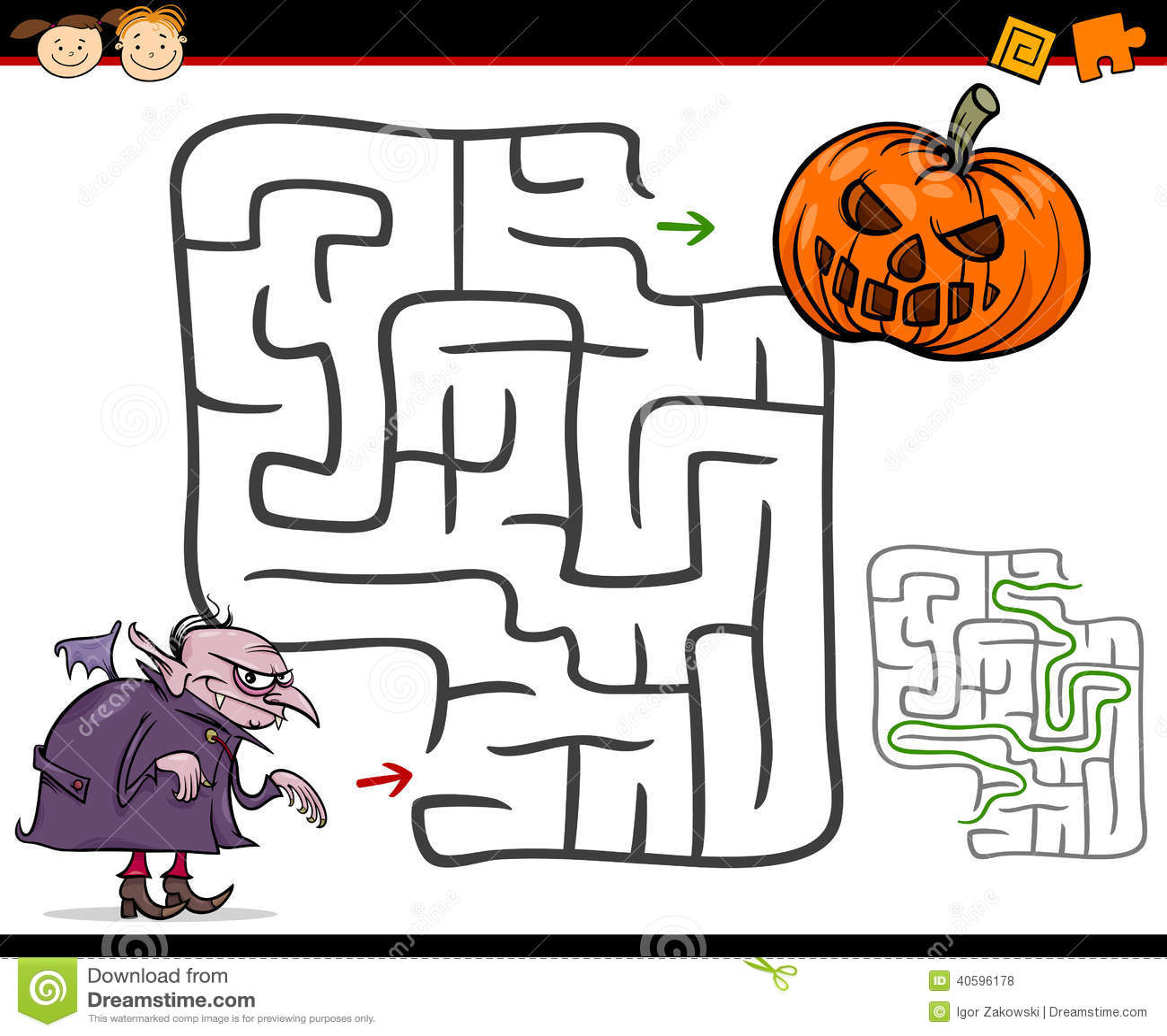 Labyrinthe De Bande Dessinee Ou Jeu De Labyrinthe