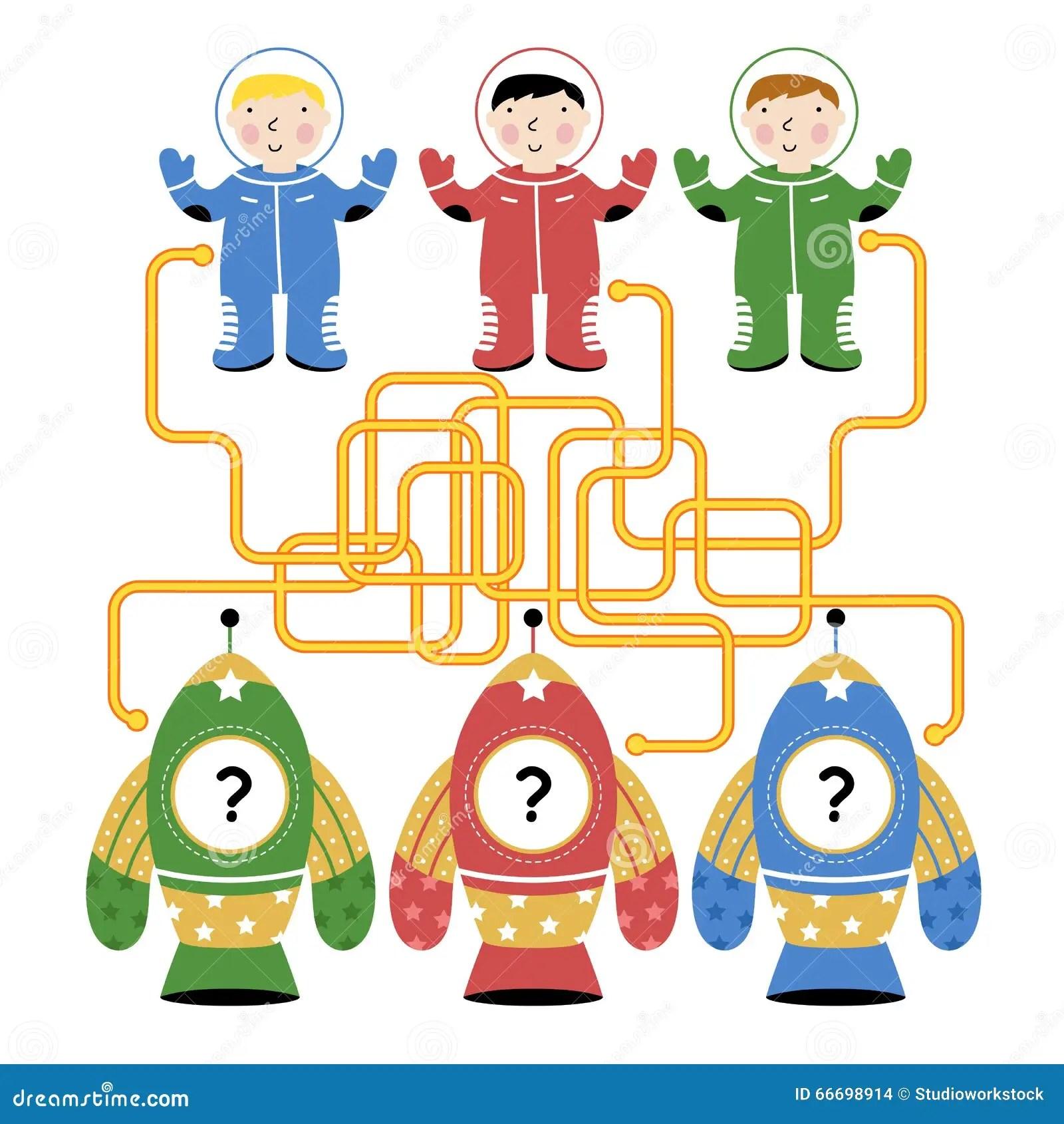 Labyrinthe De Vecteur Jeu De Logique Pour Des Enfants