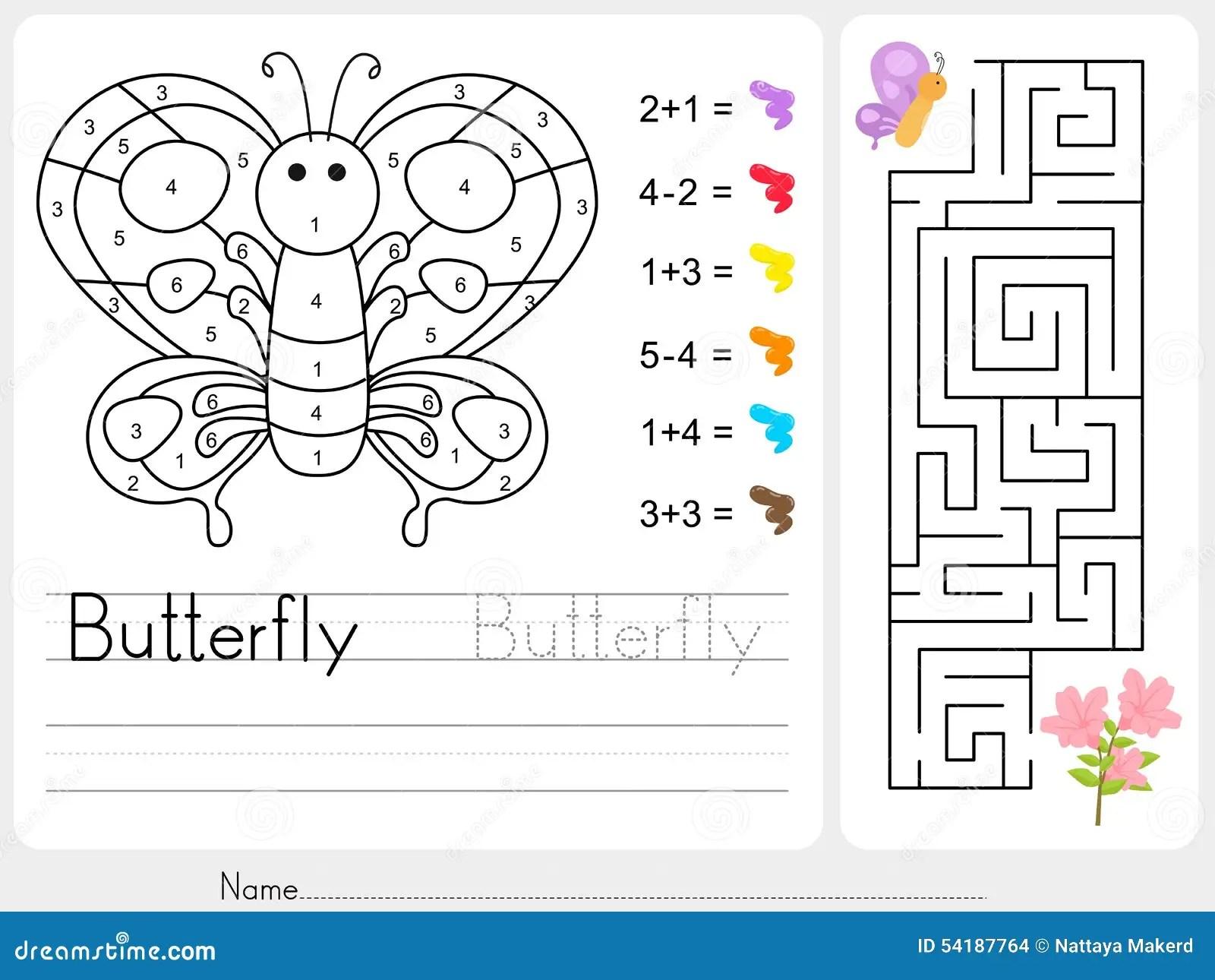 Labyrinthspiel Farbe Durch Zahlen