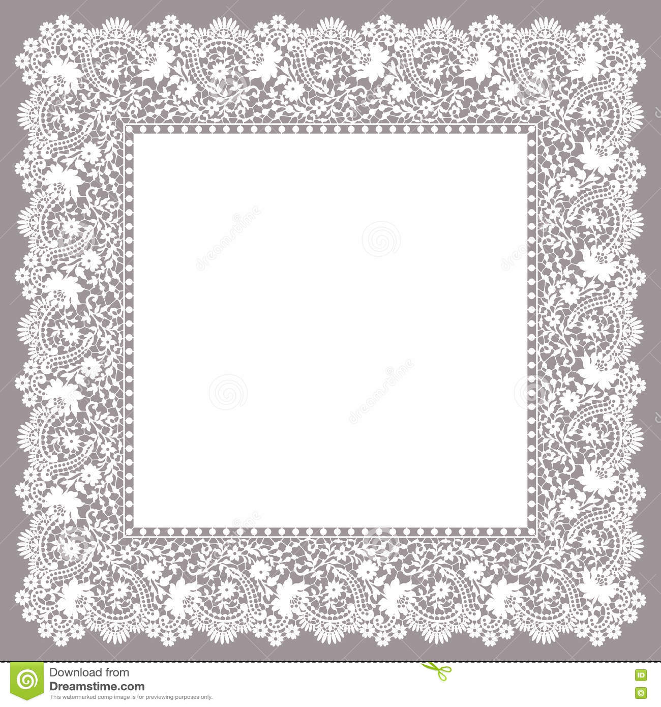 hight resolution of lace frame clip art