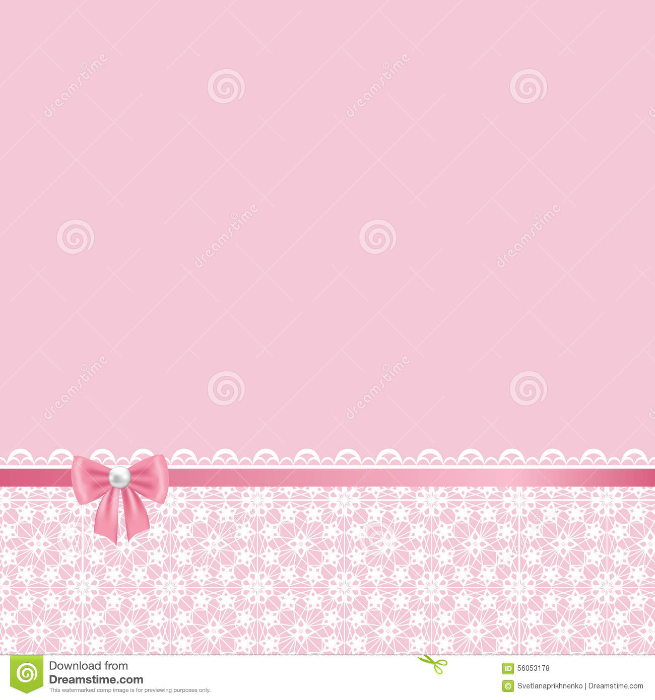 Lace Frame On Pink Background Stock Vector Image 56053178