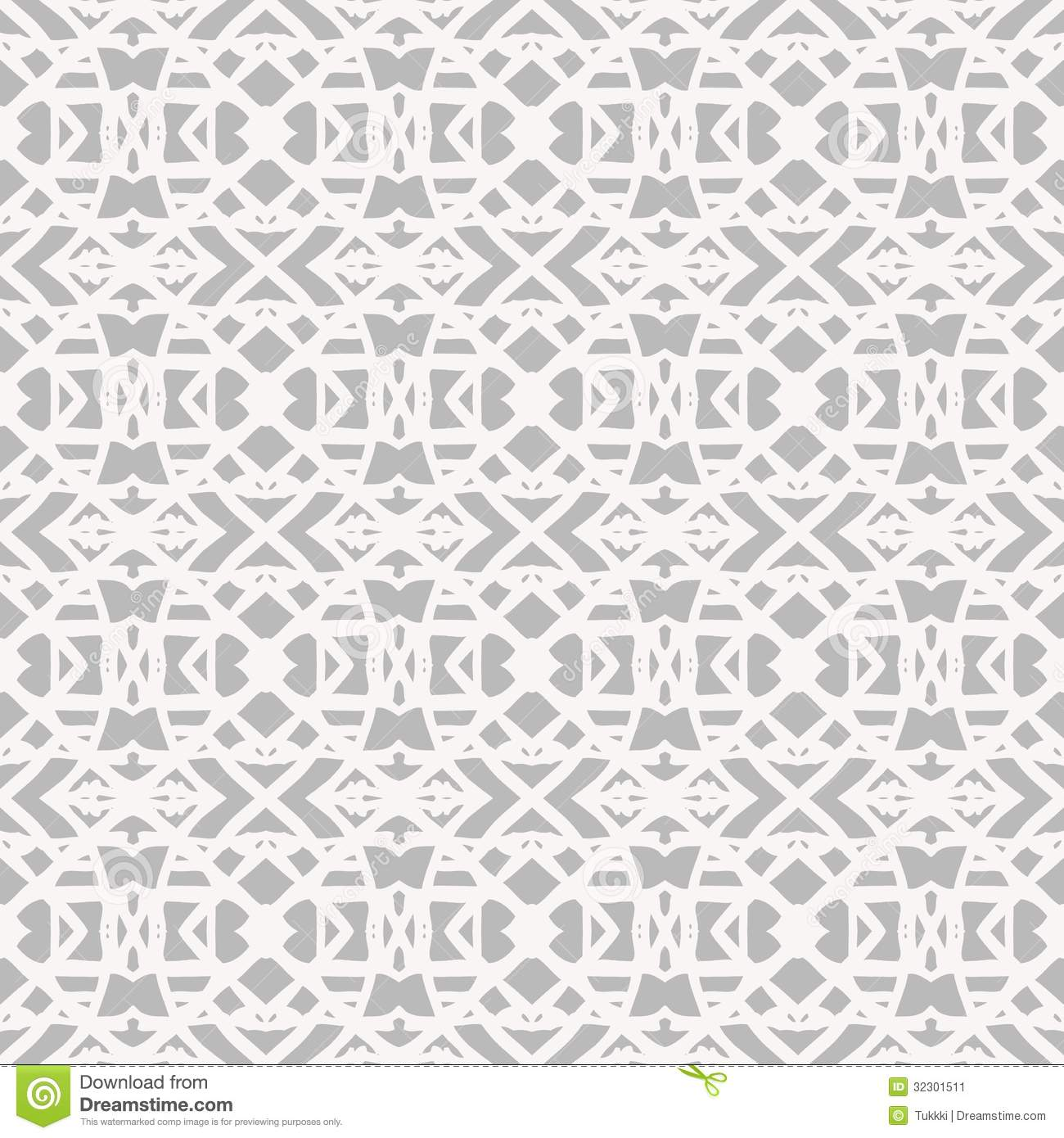 Lace Pattern With White Shapes In Art Deco Style Stock