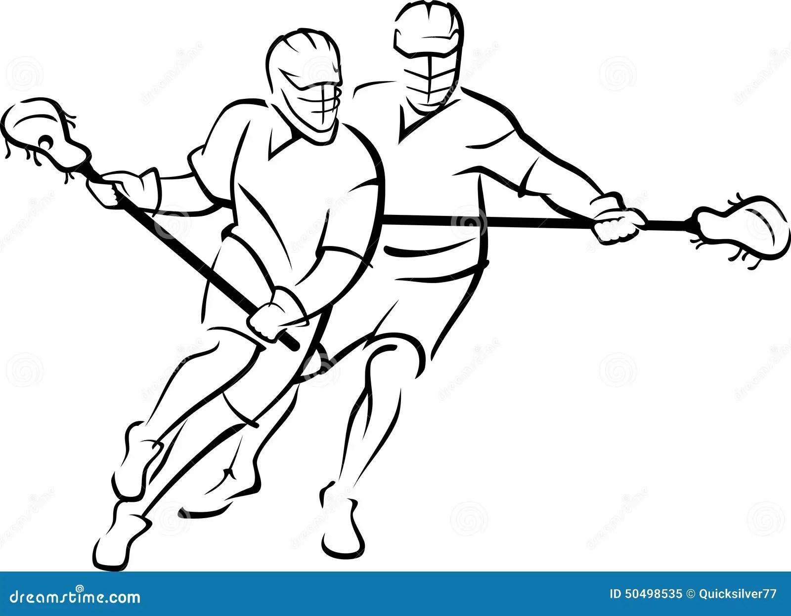 Lacrosse Match Stock Vector