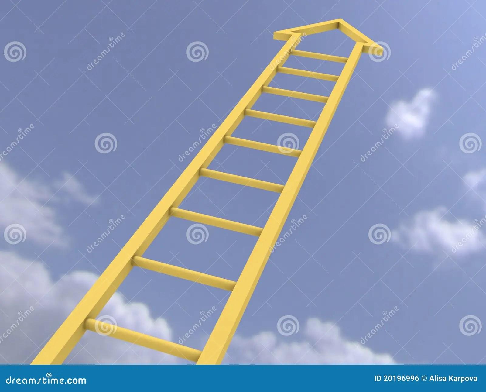 Ladder Of Success Stock Illustration Image Of Heaven