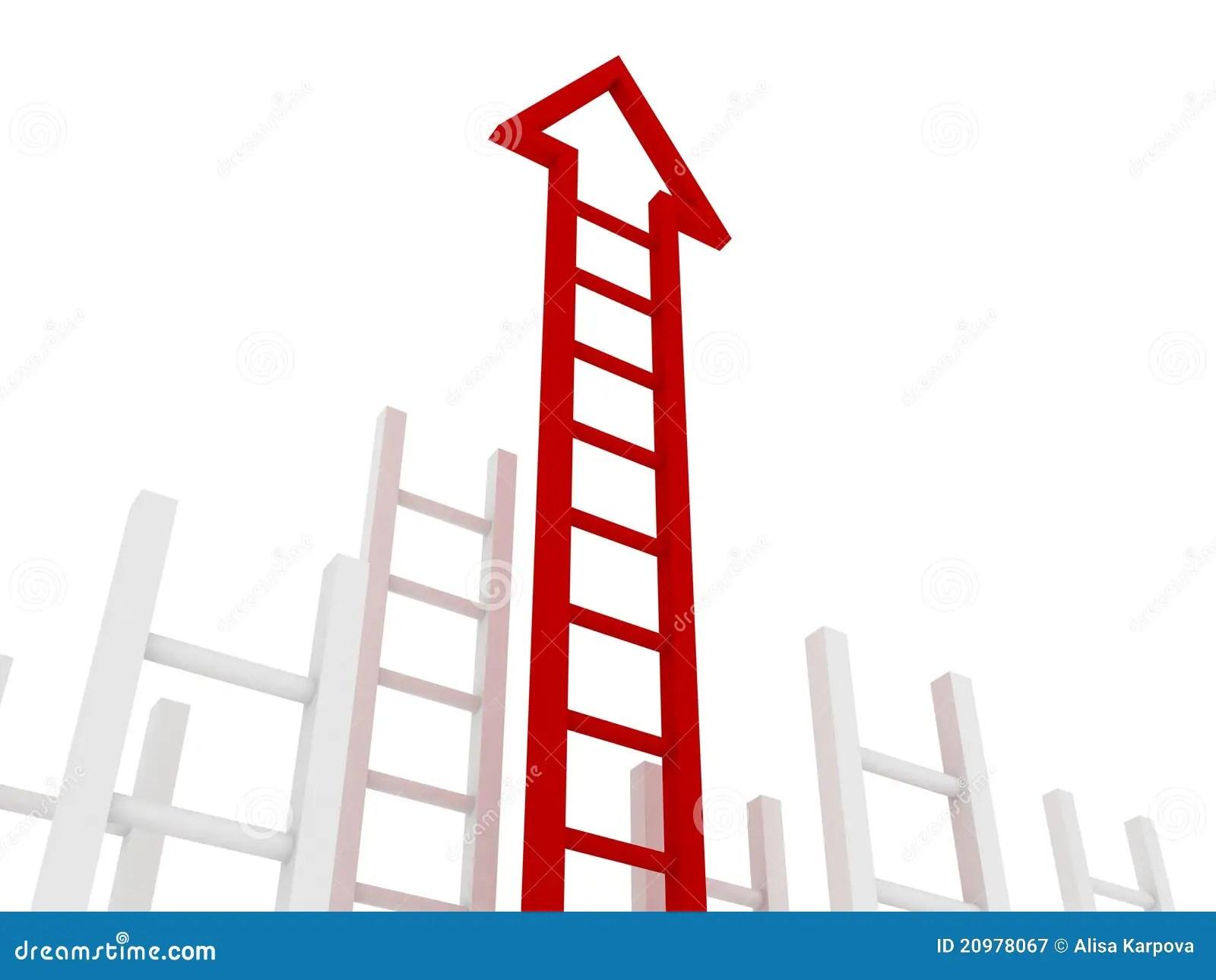 Ladder Of Success Red Arrow Stock Illustration