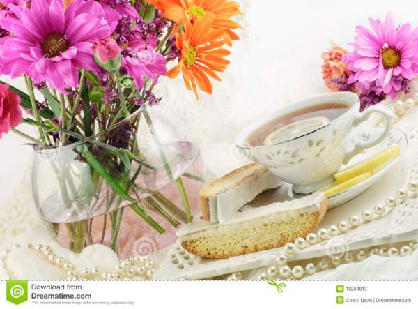 Ladies Tea Party Stock Of Morning Objects