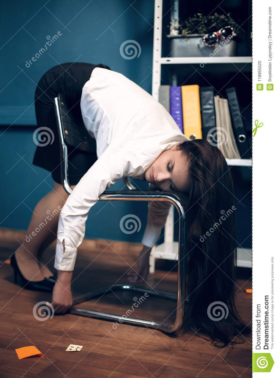 chairs for sleeping volmar swivel chair review lady on in weird pose stock photo image of young