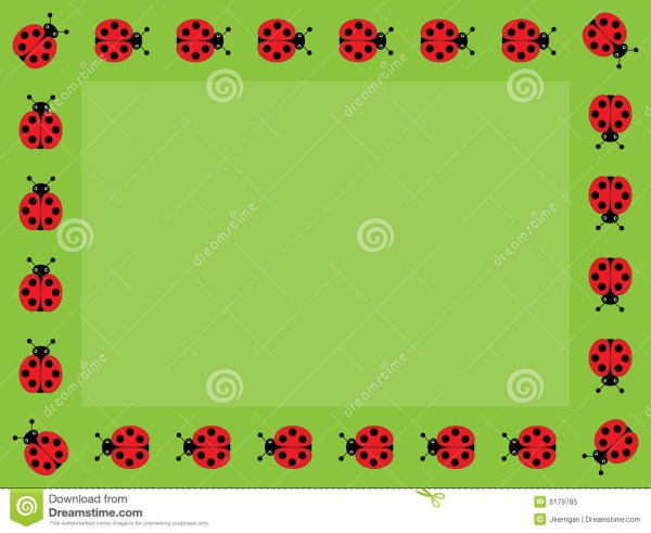 ladybug frame stock vector. illustration