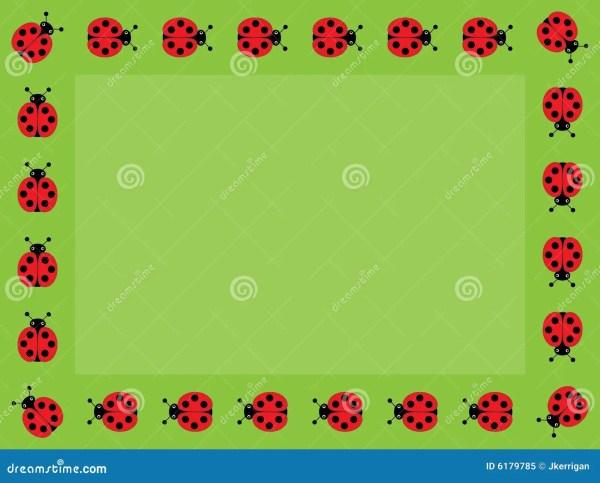 ladybug frame royalty free stock