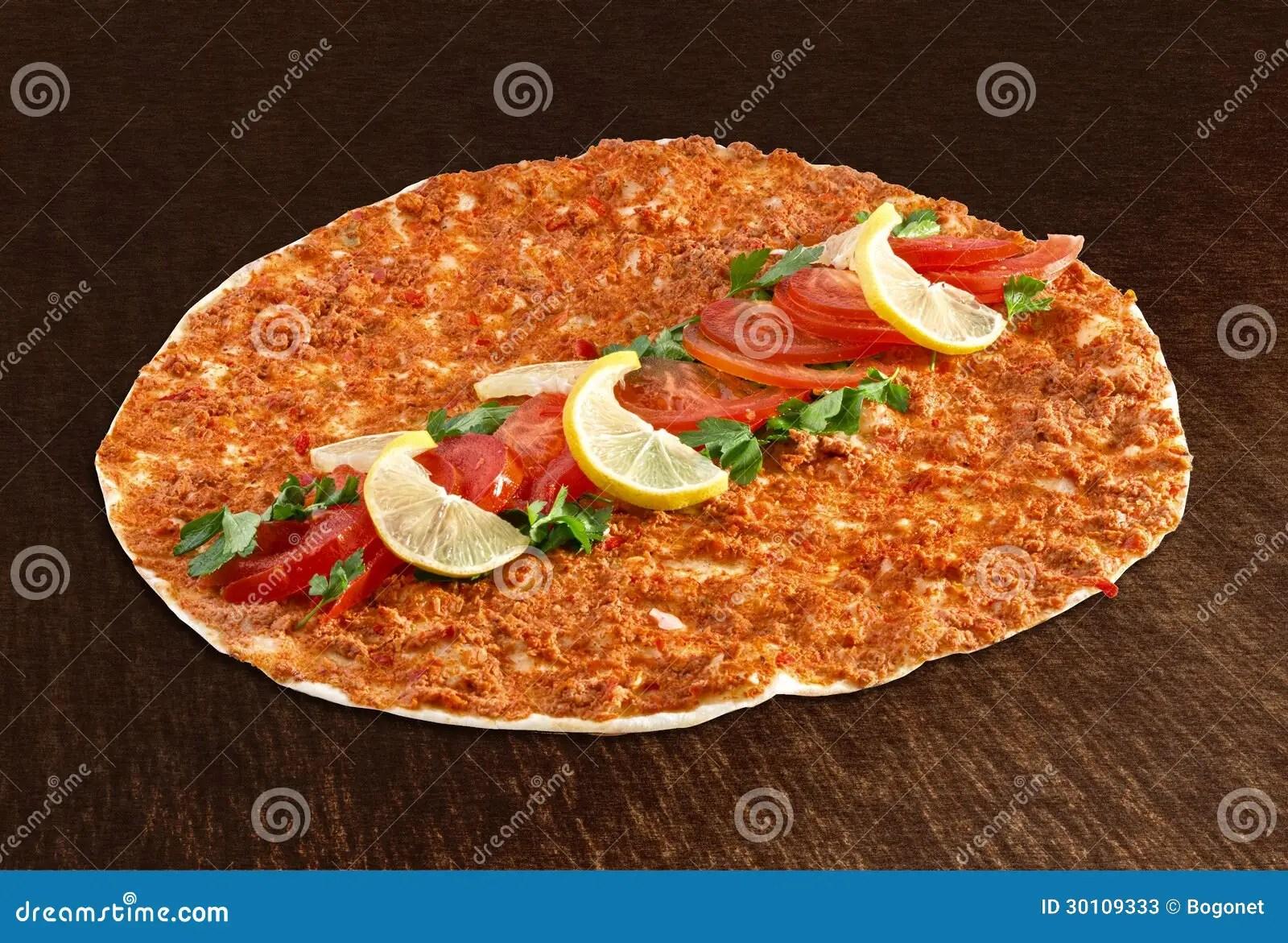 Lahmacun  pizza turca imagen de archivo Imagen de